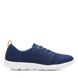 Clarks Step Allena Sun Navy Womens Shoes